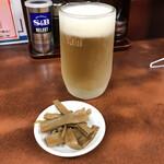 一寸亭 - 生ビール(630円)