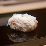 鮨 一 - 北海道の毛蟹の蟹味噌和え