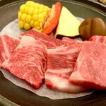 虎杖浜温泉ホテル - 料理写真:白老牛陶板焼