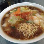 ガッツリ飯店 天極家 - 熱々トロトロの広東麺を頂きます!