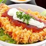 海鮮市場めし えにし家 - 料理写真:若どり南蛮揚げ丼 単品850円・セット1,060円