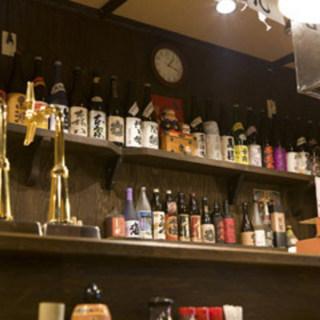 各地の地酒から選りすぐった地酒が豊富です。