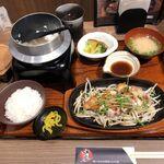 ginsharitokyuushuuumaimonnomisekuroan - 桜島鶏のステーキ定食 1090円+税