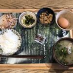 日当山無垢食堂 - ■無垢食堂の朝ごはん(500円) ■副菜(100円)