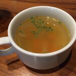 タイムピースカフェ - ランチセット(税込 1,450円)評価=◯ :あまから肉味噌丼 温泉卵のせ