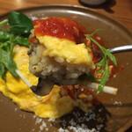Taimupisukafe - ランチセット(税込 1,600円)評価=△ :ふわとろ卵と炙チーズの特製オムライス