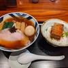 食煅 もみじ - 料理写真:味玉中華そばと角煮飯