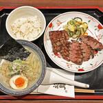 牛たん焼き 仙台辺見 - 「上タン焼きとハーフラーメン」¥1,700
