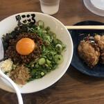 麺屋 こころ - 料理写真:台湾まぜそば唐揚げセット