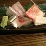 魚菜 由良 - 黒鯛、金目鯛、コハダ、縞鯵、ヒラメ縁側