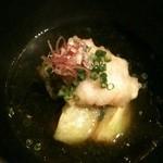魚菜 由良 - 水茄子と鱧の擦り流し