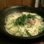 魚菜 由良 - 国産豚とゴーヤの柳川鍋