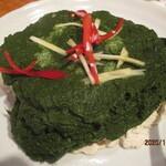 141376552 - 豆腐にほうれん草のソース