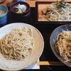 音市楼 かくれ庵 - 料理写真:三種の蕎麦膳(税抜1,300円) 大盛(150円追加)  わさび蕎麦は結構つんときます