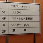 魚真 - 2012/08 JR新宿駅 東南口からすぐの雑居ビルの2階