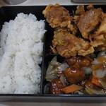 交来 - 古老肉(酢豚)ランチ改め唐揚げランチ酢豚添えww
