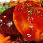 ビーフ キッチン スタンド - ハンバーグ、目玉焼き