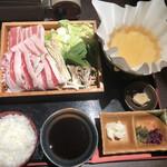 こすぎ畑 - 牛豚しゃぶ定食@900円