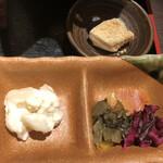 こすぎ畑 - 小鉢、漬物、デザート