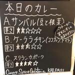 Curry Spice Gelateria KALPASI - 本日のカレー