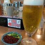 浜屋 - ランチビール200円