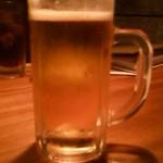 14140104 - 相方が待ちきれずに1口飲んじゃったビール