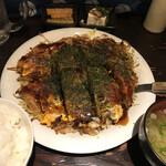 広島焼 HIDE坊 - 肉玉定食