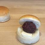 Kameokahasamukoppepan - 丹波大納言小豆の粒あんバター、230円