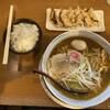 栄昇らーめん - 料理写真:アゴ出汁ラーメン大盛り煮卵餃子セット