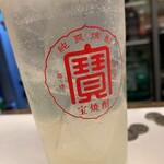 越前屋田中酒店 - パンチレモンサワー(2杯目)