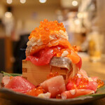 寿司と天ぷら ニューツルマツ - 海鮮こぼれ寿司(1,200円)