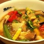 魚眞 - 野菜たっぷり・海老とホタテのあんかけ