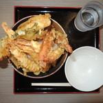 えにわのうどん屋さん - メガ天丼500円(1日限定5食)