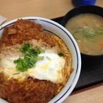 かつや - カツ丼(竹)と豚汁(小)