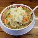 豚太郎 - 味噌ラーメン+野菜+野菜追加=味噌野菜ダブル (税込¥700-)