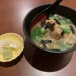 千年の宴 - 季節鮮魚の胡麻茶漬け…390円+税