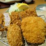 かつ敏 - (2020/10月)ホタテクリームコロッケと旬のかきフライ&ヒレかつ定食