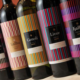 すべてのワインは直輸入でオーガニックワインです。