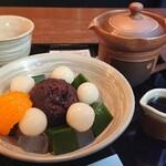 茶楽 かぐや - 料理写真:あんみつ  白玉がもちもちで餡と絶妙のバランスだった