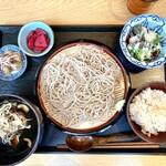 OKOZe - 鴨と山椒ネギの蕎麦定食 1,000円