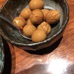 141462674 - うずら卵の燻製風味350円。