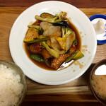 おうちごはん処 ふたば食堂 - 料理写真:酢豚定食 ¥1,050 (税抜)