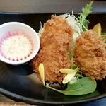わらべ菜魚洞 - アジ&牡蠣フライ