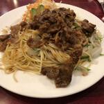 珈琲ぱぁらー泉 - 焼肉スパゲティー1040円税込