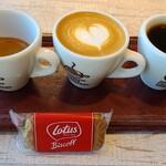 ロゼッタ・カフェ・カンパニー - 飲み比べ3種