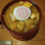 TAKEUCHI - カレー野菜スープは汁より野菜が多く野菜チャージにはもってこい!なんとおかわりもできます!