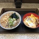 名代 富士そば  - 朝親子丼セット(朝メニュー)