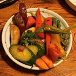 やきとんひなた - 2012.6 彩り野菜のグリル(450円)