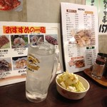 豚串モンロー - レモンサワー(367円⇒210円)2012年7月