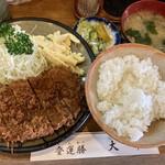 とんかつ 大幸 - カレーマカロニサラダ定食withヒレカツ(ヒレカツ定食)